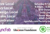 Buy Local Santa Monica / SyncFab will be hosting a Fee-Based Product Design & Local Production Sourcing Discussion Session on Saturday, September 12th and donate the proceeds to SMMEF. The event will focus on product design ideas that represent Santa Monica Culture!