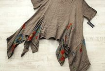 Sarah santos 100% linen tunic dress stunning taupe lagenlook really quirky osfa