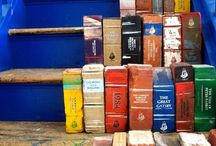 painted bricks as books