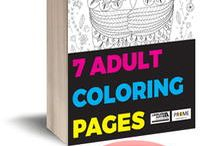 adult coloring in book