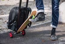 Backpack & skateboard