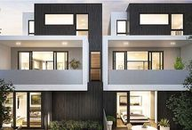 townhouse exterior / Possible exteriors for townhouses to be built