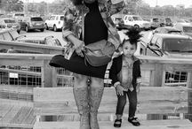 Mommy and Me Style / Stylish moms and kids