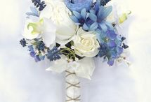 Ivory and blue