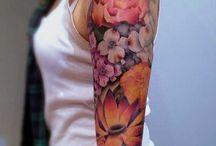 arm peony tattoo