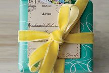 Unique Wrapping / Unique and personalized wrapping can be as much of a gift as what it holds.  / by Kristin Studle