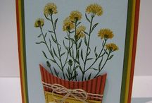 Stampin up flowering fields
