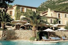 Belmond Hotel La Residencia, Deià, Mallorca, Balearic Islands, Spain / Refurbishment and Additions to Existing Hotel  La Residencia is located in Deiá, Mallorca, with spectacular views over the Tramuntana Mountains and Mediterranean Sea.  The project involved the addition of a tiered bedroom building set into the landscape and topography. Natural materials, including stone and timber, plaster techniques and wrought-iron balustrading were used to complement the existing hotel building.