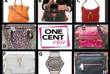 SUPER TUESDAY - Designer Fashions @OneCentChic April 29 / Great Choice Auction of Bags and a Watch