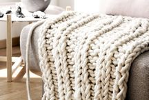 Big Knit Blanket Decor / Style inspiration for including a Big Stitch Blanket in your home! / by The BagSmith