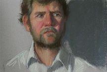 pastel, pencil.... portraits - muži