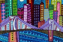 art - zen doodle buildings cityscapes