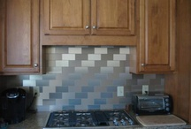 Customer Projects / These are photos of installs that our customers sent in. They feature Fasade faux metal backsplash and Aspect peel & stick metal backsplash products.