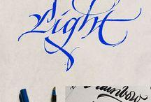 Kalligrafie / Op papier en ander ondergronden / by Antoon De Groote