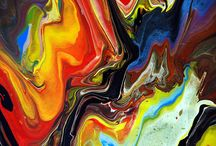 Fluid Painting Details / These are close up detail images from original Fluid Paintings using professional Acrylic paints. You can see more of my work on my website at www.markchadwick.co.uk or follow me on facebook at http://facebook.com/markchadwickfineart.