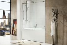 "Beautiful Shower Doors - Paragon Bath / Crank up the ""wow"" factor in your bathroom by ditching your shower curtain and installing a gorgeous shower door from Paragon Bath."