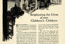 GE MAZDA - oświetlenie na starej reklamie
