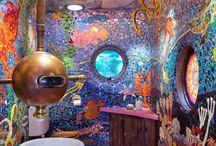 Gaudi submarine bath room