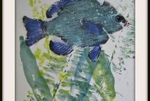 fish printing ideas