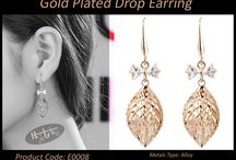 Gold Plated Drop Earring / #WearDifferent #FeelDifferent #LookHatke Buy Hatke Products from anywhere in India now.. Coz we deliver it right to ur doorstep. Interested buyers can send us a ping for details on price and other stuff or you could just inbox us your number for us to get in touch with you.. Visit our FB page for more details.