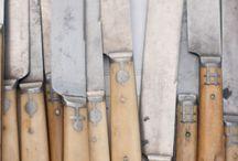 Couteaux manches os ou ivoire napoléon III