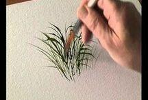 pintura arbustos