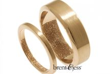 Rose Gold Fingerprint Wedding Rings / Rose gold wedding rings