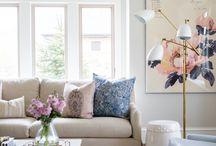 Beige sofa indredning