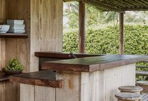 Outdoor Bar Ideas / My husband is in the planning process of installing an outdoor bar area to our deck. These pictures are his inspiration :-)