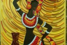 Quilled African woman
