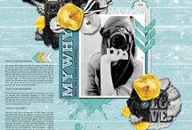 {Creative Inspiration} Dagi's Temptations / Digital scrapbooking layouts using templates by Dagi's Temp-tations.