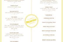 Breakfast menus