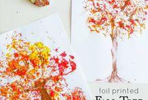 Thema herfst/working About the fall in kindergarten / Leuke lesideeen voor tijdens de herfst om te doen met kleuters