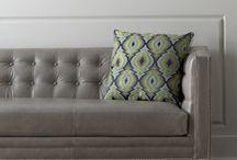 Grey Leather sofas