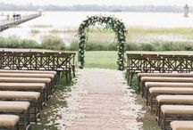 Outdoor Wedding,Ceremonie @nd H@ppy M@rried Copples