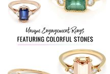 COLORFUL ENGAGEMENT RINGS / engagement ring ideas + inspiration for those of you looking for a bit more color for your jewelry