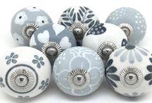 Grey white ceramics