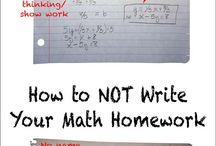 how to write your math homework