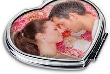 Espejos personalizados / Con foto y texto con distintas formas y tamaños para llevarlo siempre contigo.