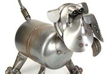 It's a ZOO out there! ♥ / Yard art metal animals for the garden