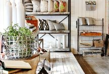 Farmhouse Style / Approachable farmhouse design. Fixer Upper & Joanna Gaines approved. Lots of wood - white - mixed metals - and texture.
