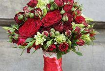 bukiety ślubne czerwone