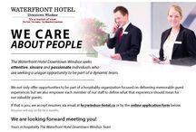 Join the Team / At the Waterfront Hotel Downtown Windsor, we seek attentive, sincere and passionate individuals who are seeking a unique opportunity to be part of a dynamic team. / by Waterfront Hotel Downtown Windsor