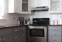 Kitchen Ideas / Ideas for the kitchen: stoves, color to paint the cabinets, backsplash, storage, tables, sliding doors, and flooring. / by Kit Umscheid