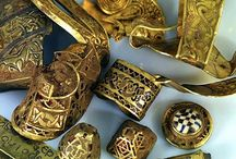 Anglo-Saxon treasure from the Sutton Hoo burial ship