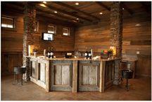 idea for a rustic bar