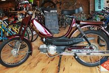 Detroit Moped Works: Vintage two stroke pedal start mopeds / Mopeds that are for sale at or have been sold by Detroit Moped Works.