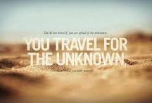 Travel Quotes / A collection of inspiring quotes about travel.