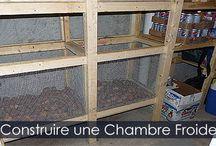 Chambre Froide - Entreposage des aliments / Guide de construction d'une chambre froide positive pour la préservation et l'entreposage des aliments et légumes du potager jardin.