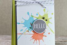 Splatter cards